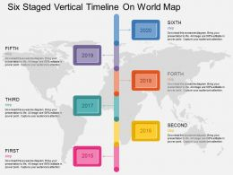 Cq Six Staged Vertical Timeline On World Map Flat Powerpoint Design