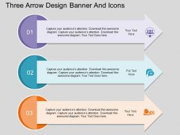cq Three Arrow Design Banner And Icons Flat Powerpoint Design