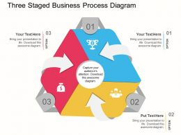 cq Three Staged Business Process Diagram Flat Powerpoint Design