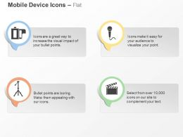 Cq Tripod Mike Flap Recording Devices Ppt Icons Graphics