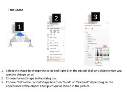 cr Four Staged Puzzle Cloud And 3d Men Powerpoint Template