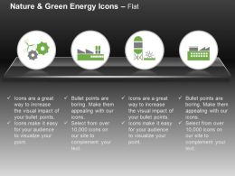 Cr Gears With Factory And Plant For Green Energy Production Ppt Icons Graphics