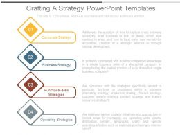 Crafting A Strategy Powerpoint Templates