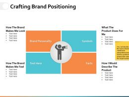 Crafting Brand Positioning Ppt Powerpoint Presentation File Background Image