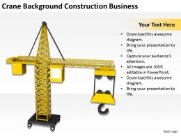 Crane Background Construction Business Ppt Graphics Icons PowerPoint