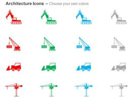 Crane Heavy Machine Truck Forklift Big Crane Ppt Icons Graphics
