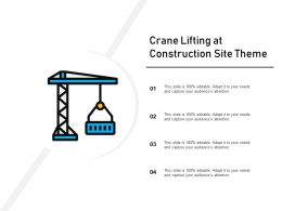 Crane Lifting At Construction Site Theme