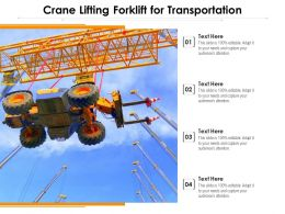 Crane Lifting Forklift For Transportation