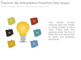 Crawfords Slip Writing Method Powerpoint Slide Designs