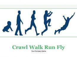 Crawl Walk Run Fly Arrow Pointer