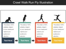 Crawl Walk Run Fly Illustration