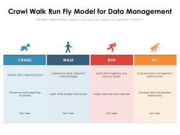 Crawl Walk Run Fly Model For Data Management