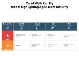 Crawl Walk Run Fly Model Highlighting Agile Team Maturity