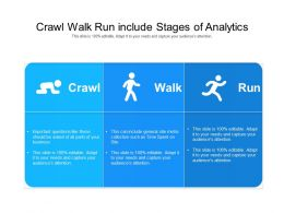 Crawl Walk Run Include Stages Of Analytics