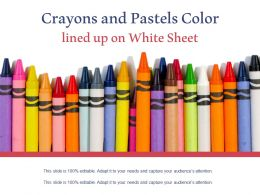 Crayons And Pastels Color Lined Up On White Sheet