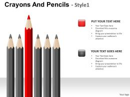 Crayons And Pencils Style 1 Powerpoint Presentation Slides
