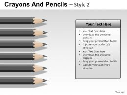 Crayons And Pencils Style 2 Powerpoint Presentation Slides