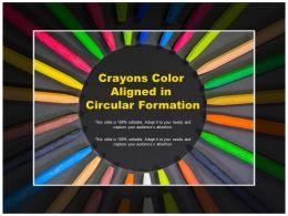 Crayons Color Aligned In Circular Formation