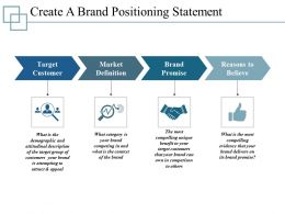 Create A Brand Positioning Statement Ppt Infographics Template 1