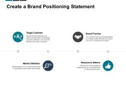 Create A Brand Positioning Statement Target Customer Brand Promise Ppt Powerpoint Presentation