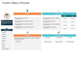 Create A Buyer Persona Language Ppt Powerpoint Presentation Pictures Infographics