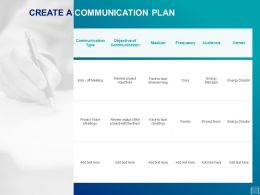 Create A Communication Plan Ppt Powerpoint Presentation Diagrams