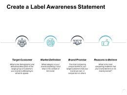 Create A Label Awareness Statement Ppt Powerpoint Presentation Slide