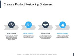Create A Product Positioning Statement Ppt Powerpoint Presentation