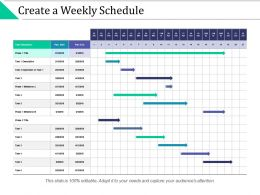 Create A Weekly Schedule Depended Milestone Ppt Powerpoint Presentation Slides Grid