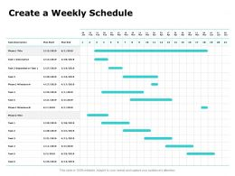 Create A Weekly Schedule Ppt Powerpoint Presentation Layouts Structure