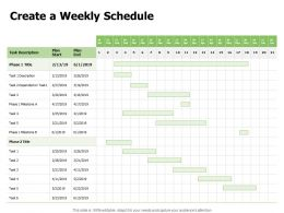 Create A Weekly Schedule Ppt Powerpoint Presentation Pictures