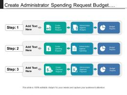 Create Administrator Spending Request Budget Approval Process With Icons