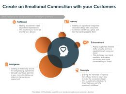 Create An Emotional Connection With Your Customers Ppt Powerpoint Presentation Icon