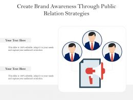 Create Brand Awareness Through Public Relation Strategies