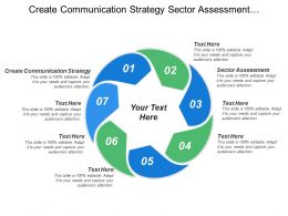 Create Communication Strategy Sector Assessment Prioritize Coordinate Strategies