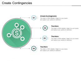 Create Contingencies Ppt Powerpoint Presentation File Graphics Tutorials Cpb