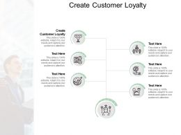 Create Customer Loyalty Ppt Powerpoint Presentation Portfolio Guide Cpb