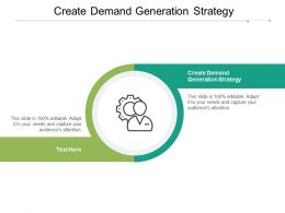 Create Demand Generation Strategy Ppt Powerpoint Presentation Good Cpb