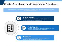Create Disciplinary And Termination Procedures Ppt Professional Brochure