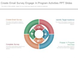 Create Email Survey Engage In Program Activities Ppt Slide