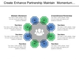 Create Enhance Partnership Maintain Momentum Focus Social Determinants