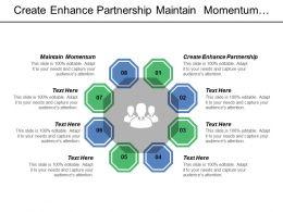 Create Enhance Partnership Maintain Momentum Focus Social Determinants