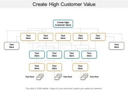 Create High Customer Value Ppt Powerpoint Presentation Gallery Graphics Cpb
