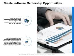 Create In House Mentorship Opportunities Agenda Powerpoint Presentation Slides