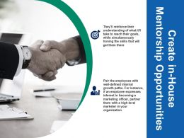 Create In House Mentorship Opportunities Marketing Ppt Infographics Slide Download
