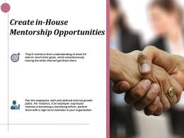 Create In House Mentorship Opportunities Ppt Infographics Example Introduction