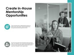 Create In House Mentorship Opportunities Ppt Powerpoint Presentation Gallery Graphics Example