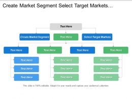 Create Market Segment Select Target Markets Customer Expectations