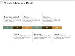 Create Materials Profit Ppt Powerpoint Presentation Pictures Graphics Cpb