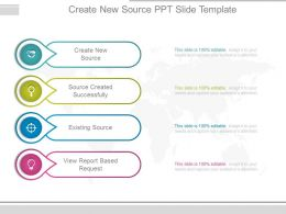 Create New Source Ppt Slide Template